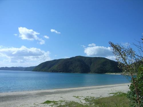 西田さんのお宅のすぐ目の前の浜